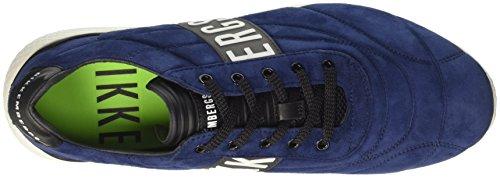 BIKKEMBERGS Herren Strik-Er 895 Niedrige Sneaker Schwarz (Black/White)