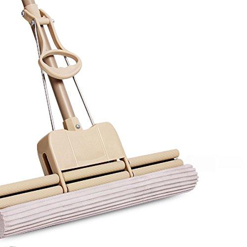 GAOJIAN Gummi-Baumwollrollen-Mops 38CM Edelstahl-Stab-einziehbare Squeeze-Wasser-Schwamm-Mop-Haushalts-Fußboden-Reinigungs-Werkzeuge