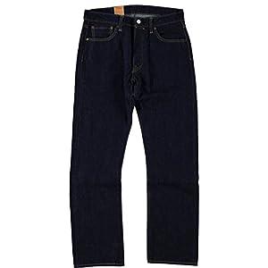 Levis 501 Original Fit Straight Leg Button-Fly Blue Denim Jeans one wash - W34 / L34