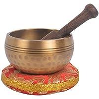 Tibetische Hand Hammered Singing Bowl mit passenden Ethnischen Beutel. Für Entspannung, Heilung & Achtsamkeit (KTM-SING1044-Z)
