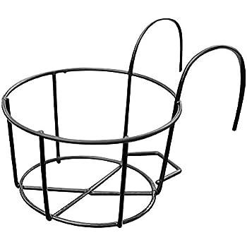 halterung f r blumentopf 18 cm durchmesser metall pulverbeschichtet braun garten. Black Bedroom Furniture Sets. Home Design Ideas