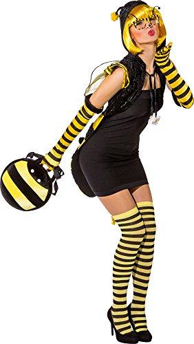 Biene Umhang mit Kapuze für Damen - Gr. L (Erwachsene Kostüme Bug Für)