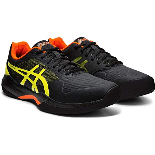 ASICS Gel-Game 7, Scarpe da Tennis Uomo, Multicolore (Black/Sour Yuzu 011), 40.5 EU