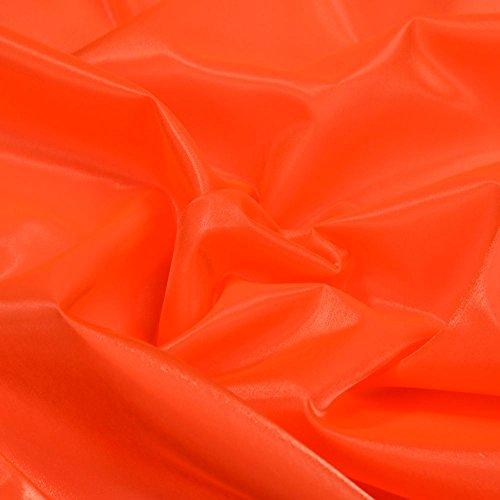 Irish Kostüm Dance Stoffe - Orange Twinkle Glänzend Seidiger Satin Irish Kleid & Dance Stoff 114,3cm 114cm Breite, Meterware,...