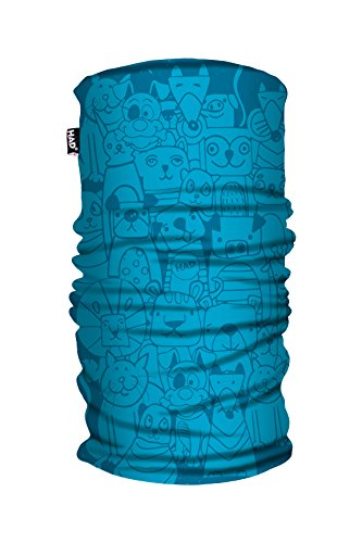 Han® Los niños de Forro Polar Impreso Tubo Bufanda, Infantil, Color Pets Blue, tamaño Talla única