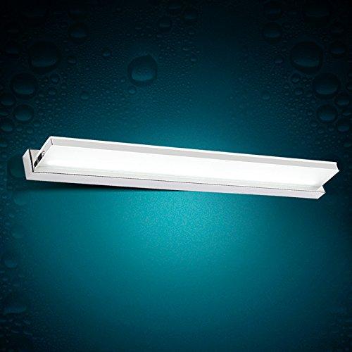 JJ Moderne LED-Spiegel Wandleuchten vor dem spiegel lampe led Bad WC Wandleuchten spiegel lampe leuchtet mit einfachen und modernen wasserdicht anti-Nebelscheinwerfer 420/720/920*50*85mm LED vor dem Spiegel, 10W warmweiß (62 cm),220V-240V