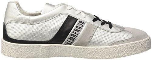 Bikkembergs Ris-er 842, Sneakers basses homme Argento (Silver/black)