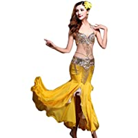 971f15617 YiJee Femme Orientale Danse du Ventre Soutien-Gorge Belly Dance Jupe