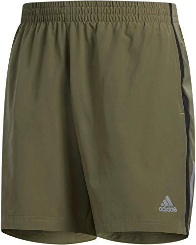 adidas Own The Run Short Men (1/2), Herren M Grün/Schwarz (raw Khaki/Black) (Shorts Running Amazon)