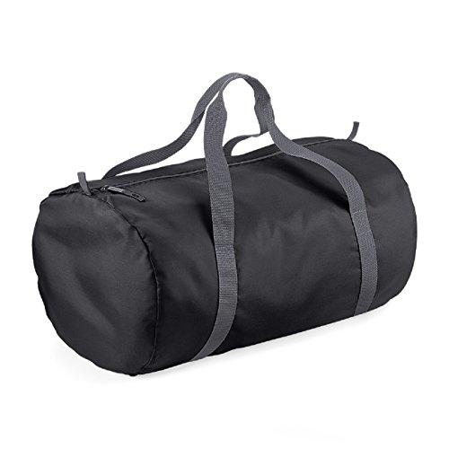 BagBase Reisetasche, wasserabweisend, 32 Liter Schwarz / Grafit Grau