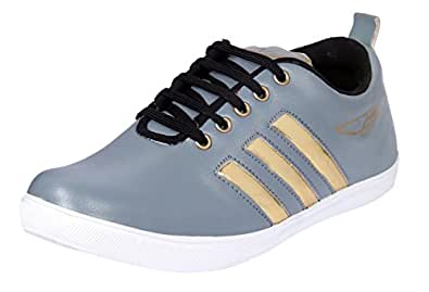Freedom Daisy Men Stylish Pair Of Lace-Up Casual Shoes/Sneakers (7, Black) (10) (8, Gold Patti Gray)
