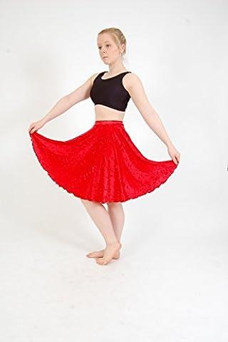 Long Circular Skirt Velour Black size Childs