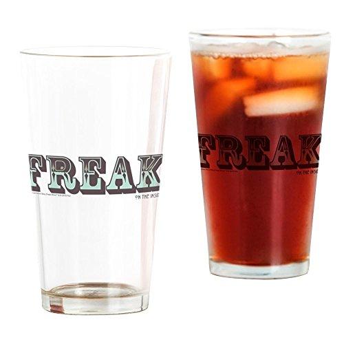 CafePress Freak On The Inside Pint-Glas farblos (Film Halloween-the Story Inside)