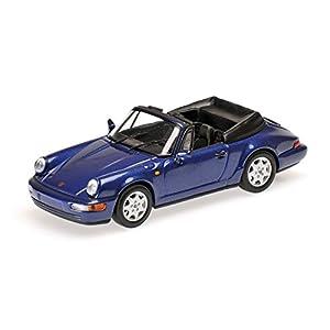 Minichamps 430067331 - Modelo de réplica (Escala 1:43, 1990 Porsche 911, Carrera 2, Color Azul y metálico)
