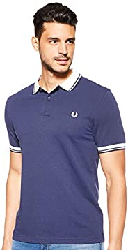 Fred Perry Mens Contrast Rib Pique Polo