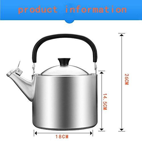 RSHUI Dicke 304 Edelstahl Kessel Gas 3,5 Liter Whistle Gas Herd Haushalt Wärmflasche (Wasserkocher bilden eine erste, Keine Schweißspalte), 3.5L -