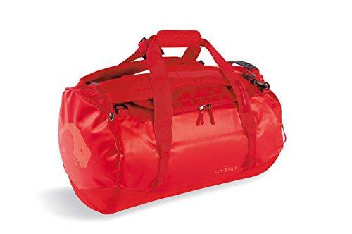 Tatonka Barrel S Reisetasche - 45 Liter - wasserfeste Tasche aus LKW-Plane mit Rucksackfunktion und großer Reißverschluss-Öffnung - Rucksacktasche - unisex - rot