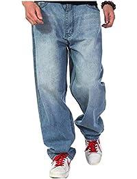 ed12ea5242fa6 Pantalones De Mezclilla De Hip Hop De Los Hombres 2018 Ropa Pantalones De  Mezclilla Holgados del Estilo del Inconformista Pantalones De…