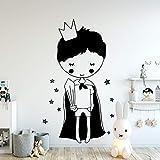Kleiner Prinz Jungen Raumdekor Vinyl Wandaufkleber Cartoon Für Baby Raumdekoration Wandkunst Dekor Wandbild Tapete Wallstic XL 58 cm X 127 cm