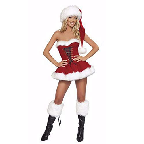 SDLRYF Weihnachtsmann Kostüm Weihnachten Kostüme Nach Halloween Kostüme Weihnachten Kostüme Weiblichen Santa Claus (Weibliche Santa Kostüm)