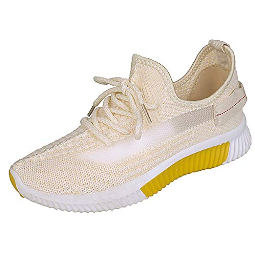 BCFUDA Turnschuhe Frauen Freizeit Atmungsaktives Mesh Outdoor Fitness Laufsport Low-Top Bequem Turnschuhe Leichtgewicht Verschleißfest Walkingschuhe - Loafer Herren Gurt