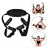 Sookg Sex Restraint Belt Bedroom Nylon Handcuffs Ankle Cuffs Body Fixation Wrist Lashing Strap Set for Activities in Bed