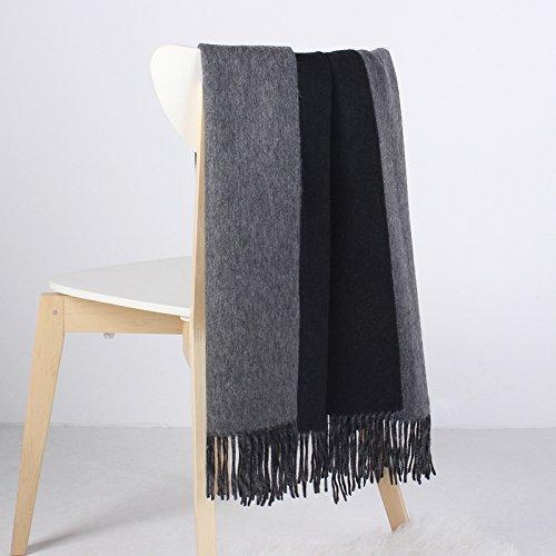 Stil Wolle Schal (FLYRCX Im europäischen Stil Jane Lady Winter und Winter Wolle Schal Schal 200cmx70cm, C)