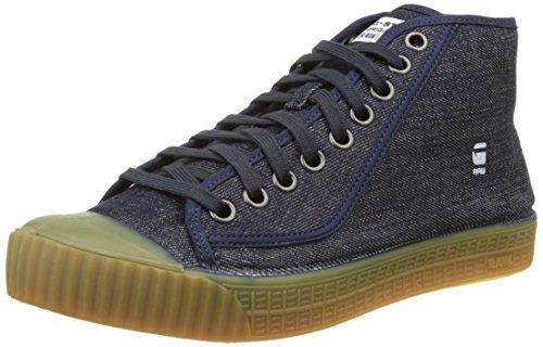 G STAR RAW Rovulc Denim Mid Sneakers, Zapatillas para Hombre, Azul (Blue (Dk Navy 881), 42 EU