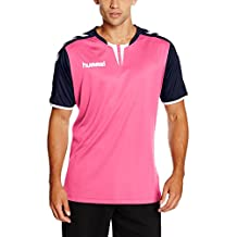 Hummel - Maillot para hombre Core Short Sleeve Poly Jersey, hombre, Trikot Core Short Sleeve Poly Jersey, Rose Violet/Marina, L