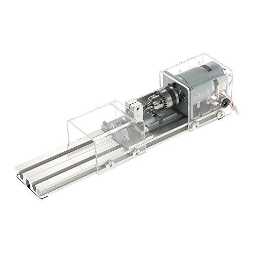 KKmoo 100 Watt Mini Perlen Maschine Miniatur Drehmaschine DIY Holzbearbeitung Buddha Perle Drehmaschine Schleifen und Polieren Perlen Holzbearbeitung DIY Drehmaschine Polierbohrer Werkzeug 12-24VDC