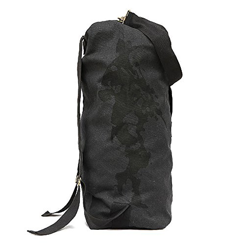 Ranbow durevole 007 zaino pieghevole esterno della tela di canapa Il campo di sopravvivenza Borsa 42L, Olive Oliva