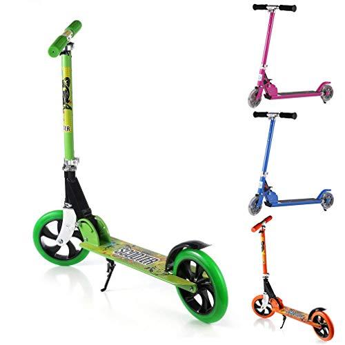 OUTAD Monopattino Scooter per bambini Monopattino urbano Bambino Big Wheels 200mm pieghevole Tracolla, dell'utente 100 kg