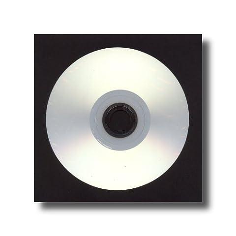étoile USA Noir en papier pour CD/DVD avec 10,2cm fenêtre transparente et rabat–100