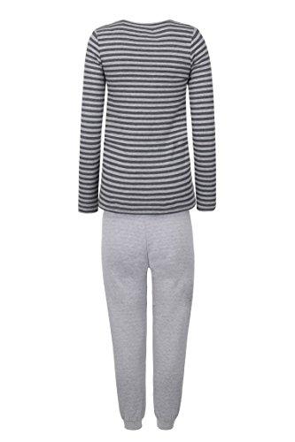 bellybutton Damen Zweiteiliger Schlafanzug Stillschlafanzug Lang Mehrfarbig (Y/D Stripe 0001)