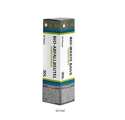 10er SET 30 L Abfallbeutel 10er Pack / Müllbeutel / Mülltüte / Biobeutel / Kompostbeutel / Bio4Pack
