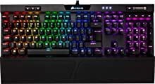 Corsair K70 RGB MK.2 Tastiera Meccanica Gaming Cherry MX Brown, Tattile e Silenzioso, Retroilluminato RGB LED, Italiano, QWERTY, Nero