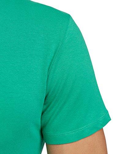 oodji Ultra Herren Tagless T-Shirt Basic Grün (6500N)