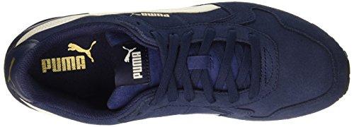 Puma St Runner Sd, Baskets Homme Bleu(Peacoat/Whisper White/Oro/Nero 13 )