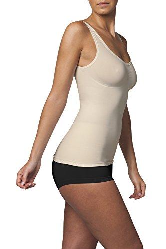 SLEEX Figurformendes Damen Unterhemd (mit Support) (44041), Large / X-Large, Hautfarben (Nude)