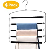 HOUSE DAY Pants Hangers 5 Layers Multi Pants Hanger Space Saving Trouser Hanger
