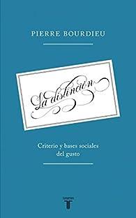 La distinción par  Pierre Bourdieu