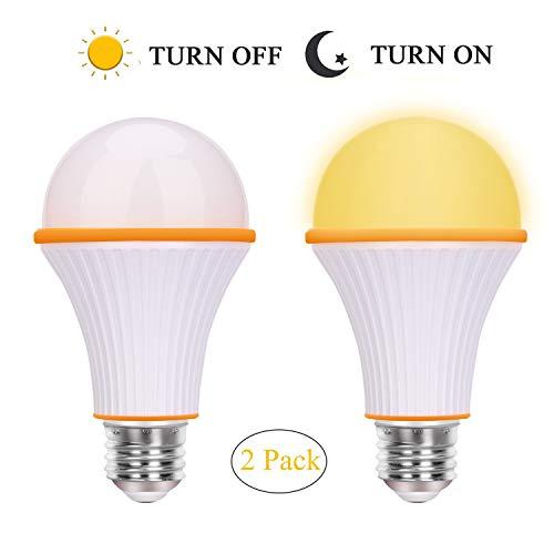 Bernsteinfarbene Glühbirne, A15, 3 Watt-25 Watt, Sonsy Home, nicht dimmbar, entspricht LED-Leuchtmittel, warmes Nachtlicht, gelbe Glühbirnen für Schlafzimmer, E26/E27 Sockel (2 Stück) gelb (Led-a15-glühbirnen)