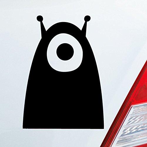 Auto Aufkleber in deiner Wunschfarbe Alien Außerirdischer Monster All Comic DUB OEM JDM 10x7 cm Autoaufkleber Sticker