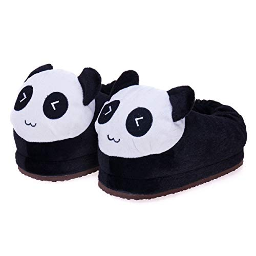Dreampartydress Ecommerce Trade Ltd Panda Black White Slippers Wildlife Bear Girls Ladies Boys