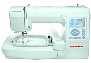 Usha Janome Memory Craft 200E 35-Watt Sewing Machine (White)