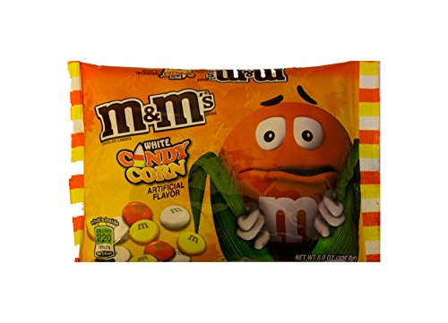 M&M's Candy Corn White Chocolate Candies 8 oz bag by Mars
