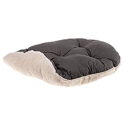 Ferplast Relax F 45/2 Cat and Dog Bed, Cotton/Fur, 43 x 30 cm, Brown by Ferplast