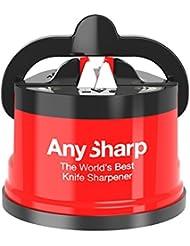 AnySharp 'éditions' Meilleur Aiguiseur de couteaux au monde avec PowerGrip, Rouge