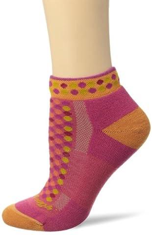 Darn Tough Vermont Damen Merino Wolle No-Show Kissen Wandern Socken, damen, RicRack Raspberry (Smartwool Snowboard Socke)