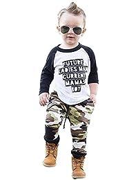 Conjuntos Bebe, ASHOP 0-5 años Niño Otoño/Invierno Ropa Conjuntos, Camiseta Camiseta Tops + Pantalones de Camuflaje